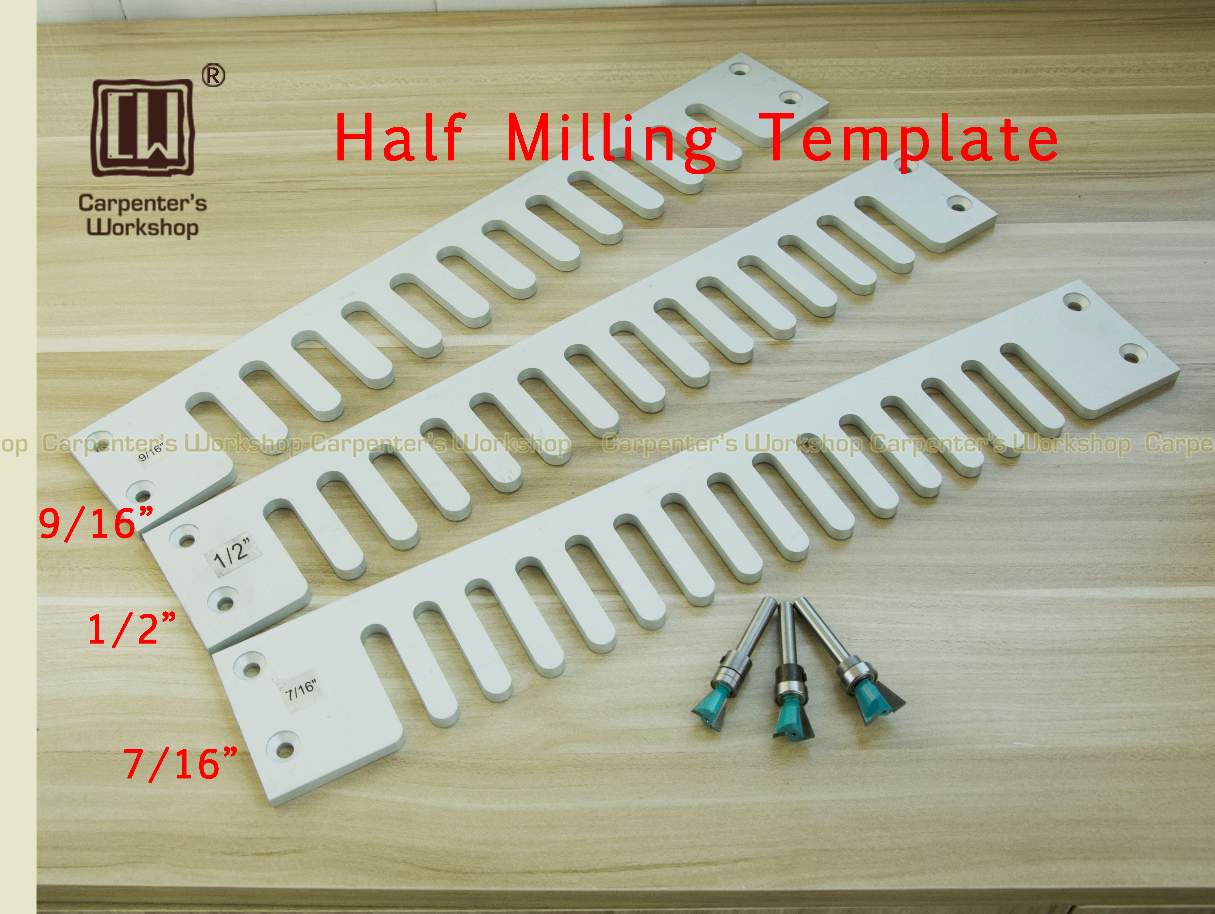 Template Half DIY 4inch Shank 1 For 12inch 24inch Straight Template Tools Length Milling Drawer Woodworking
