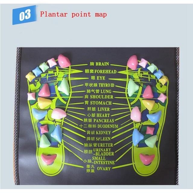 Simulation Cobblestone Foot Massage Mat Home Comfortable Foot Massage Cushion Gravel Road Massage Mat 35/70/120/140/175cm*35cm 4