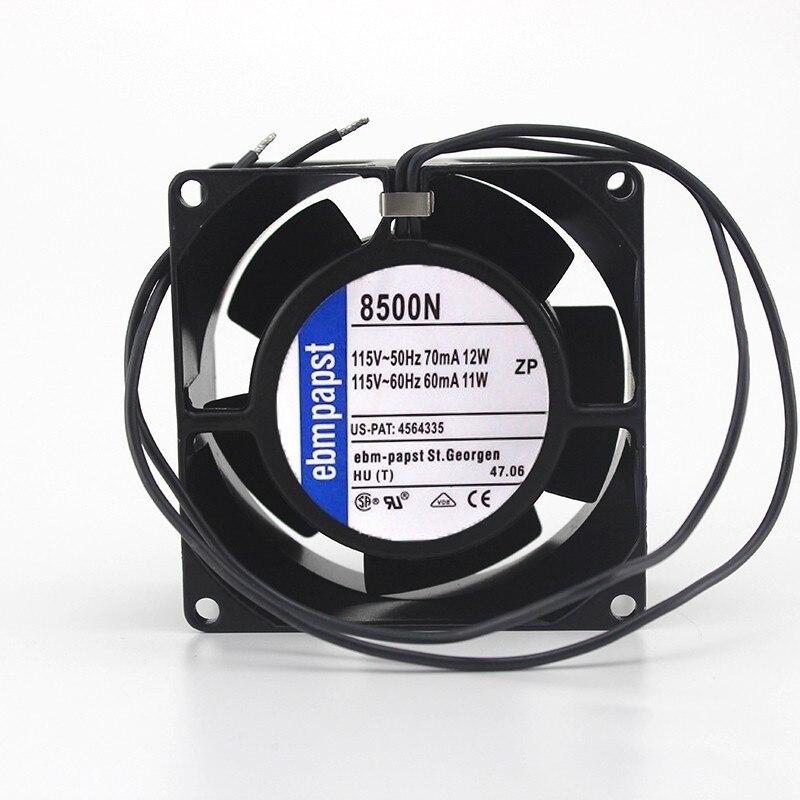 Ebmpapst 8500N AC 115V 11 ~ 12W 80x80x38mm 8cm serveur ventilateur de refroidissement carré