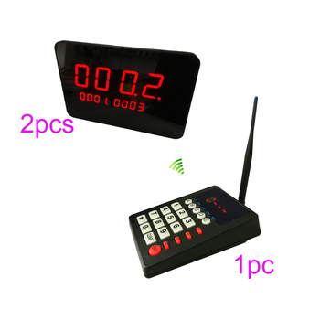 Wireless service calling system K-999 keypad with 2pcs K-2000C number receiver for Queue Equipment