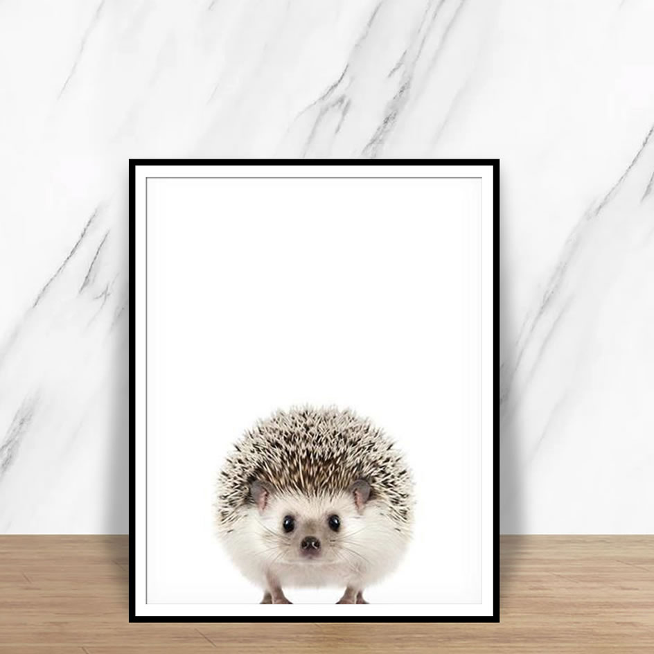 Modern Poster And Prints Squirrel Hedgehog Penguin  Pictures Fashion Animals Wall Art Canvas Painting For Living Room Home Decor