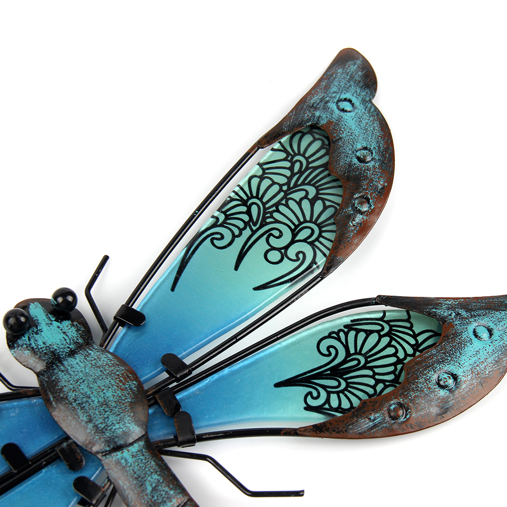 Metal Dragonfly Wall Artwork for Garden Decoration Miniaturas Animal Outdoor Statues and Sculptures for Yard Decoration 5