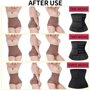 Image 5 - Корректирующий пояс для талии и живота, моделирующий пояс для снижения веса и похудения, корсет