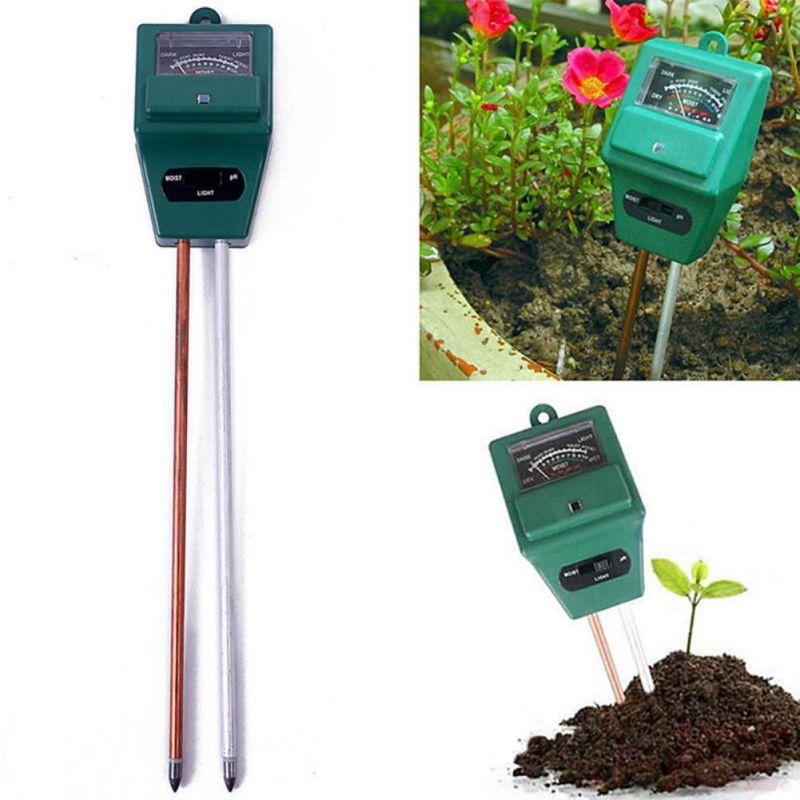 3 In 1 PH Tester Soil Detector Water Fertilizer Moisture Light Test Meter Sensor NEW
