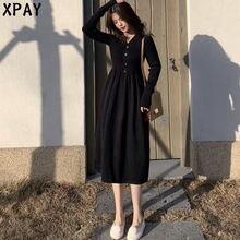 Цельное трикотажное платье для женщин 2020 Новый осень зима