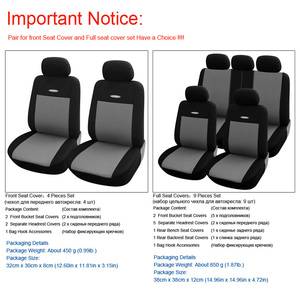 Image 4 - High Quality Car Seat Covers Polyester 3MM Composite Sponge Universal Fit Car Styling for lada Toyota seat cover car accessories
