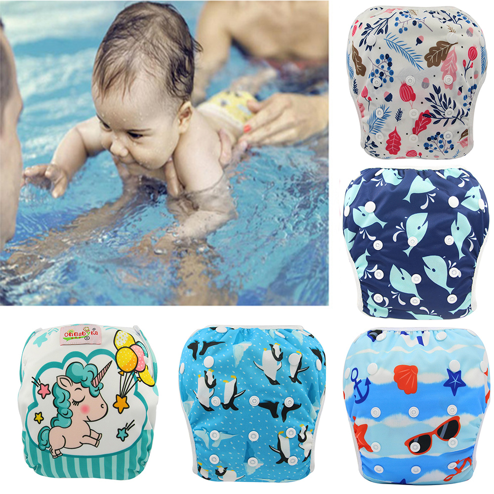 Swimming Diapers For Infants Baby Cloth Diaper Swimsuit Baby Swim Suit Children Swimwear Swimming Trunks For Girls Baby Badpak