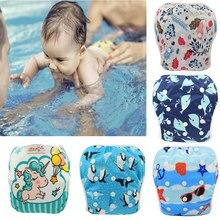 Fraldas de natação para bebês, fraldas de pano para natação, roupa de banho para crianças, troncos de natação para meninas