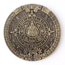 Календарь ацтеков Солнечный пояс пряжка таинственный древний образец цивилизации Майя