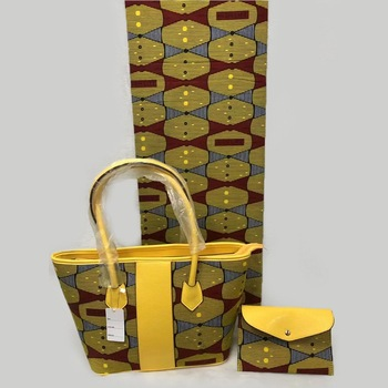 3pcs African Ankara Tote Bag set,1 Small Clutch Bag Matching Ankara fabric African print Fabric For Party DFB-15
