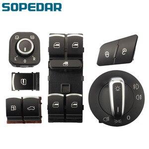 Fuel Flap Window Headlight Mirror Switch Button For VW Jetta Golf MK5 6 Tiguan 5ND 959 565A 5ND 959 857 5ND941431B 3C0962125B
