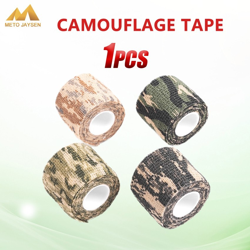 Self-adhesive Camouflage Wrap Rifle Hunting Shooting Cycling Tape Waterproof Camo Stealth Non-woven Tape 5cmx4.5m 1PCS=1LOT