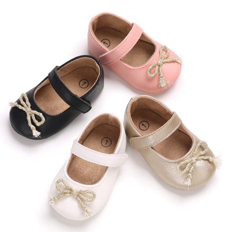 Toddler Infant Baby Girl Shoes Bow Knot Shoes Crib Shoes Newborn Pincess Shoes 0-18 Months