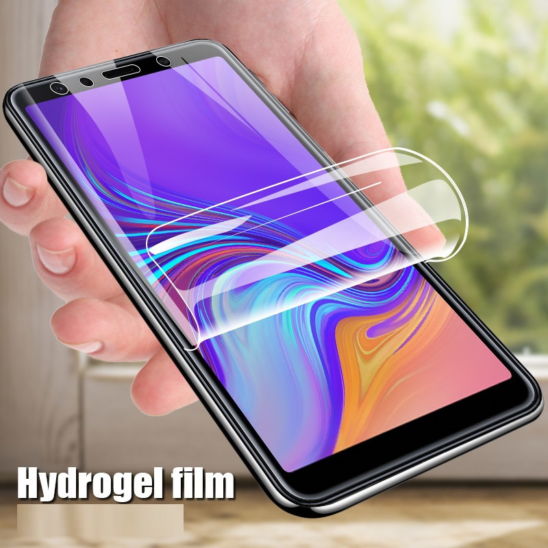 Full Cover Satety Protective <font><b>Glass</b></font> For <font><b>Samsung</b></font> <font><b>Galaxy</b></font> <font><b>J4</b></font> J6 A6 A8 Plus A5 A7 A9 <font><b>2018</b></font> version Phone Screen Hydrogel Film image