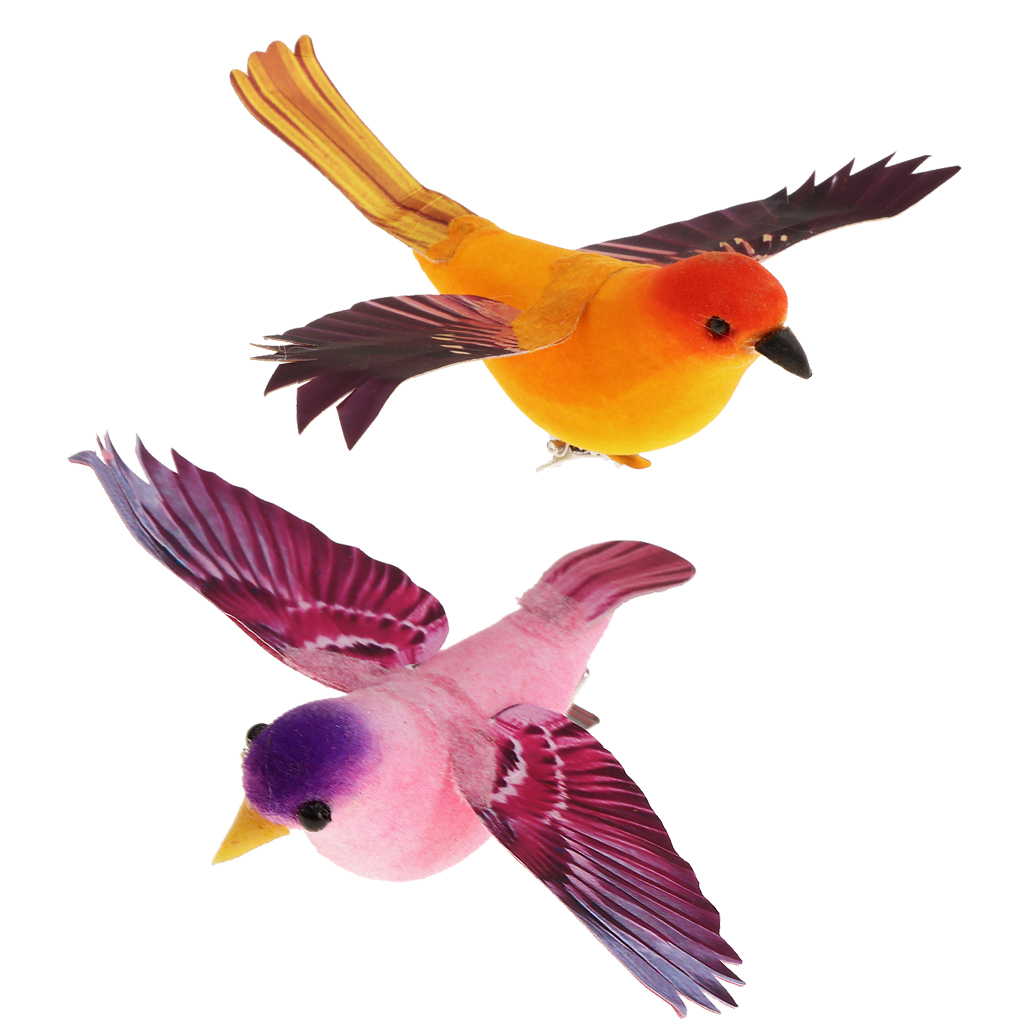 Colorful Decorative Birds Artificial Foam Feather Mini Simulated Birds Craft DIY Wedding Party Home Garden Decorations Decor
