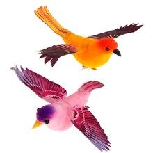 Colorful Decorative Birds Artificial Foam Feather Mini Simulated Birds Craft DIY Wedding Party Home Garden Decorations Decor
