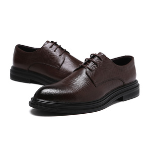 Image 3 - Formele Schoenen Heren Flats Schoenen Casual Britse Stijl Mannen Oxfords Party Trouwjurk Schoenen Voor Mannen