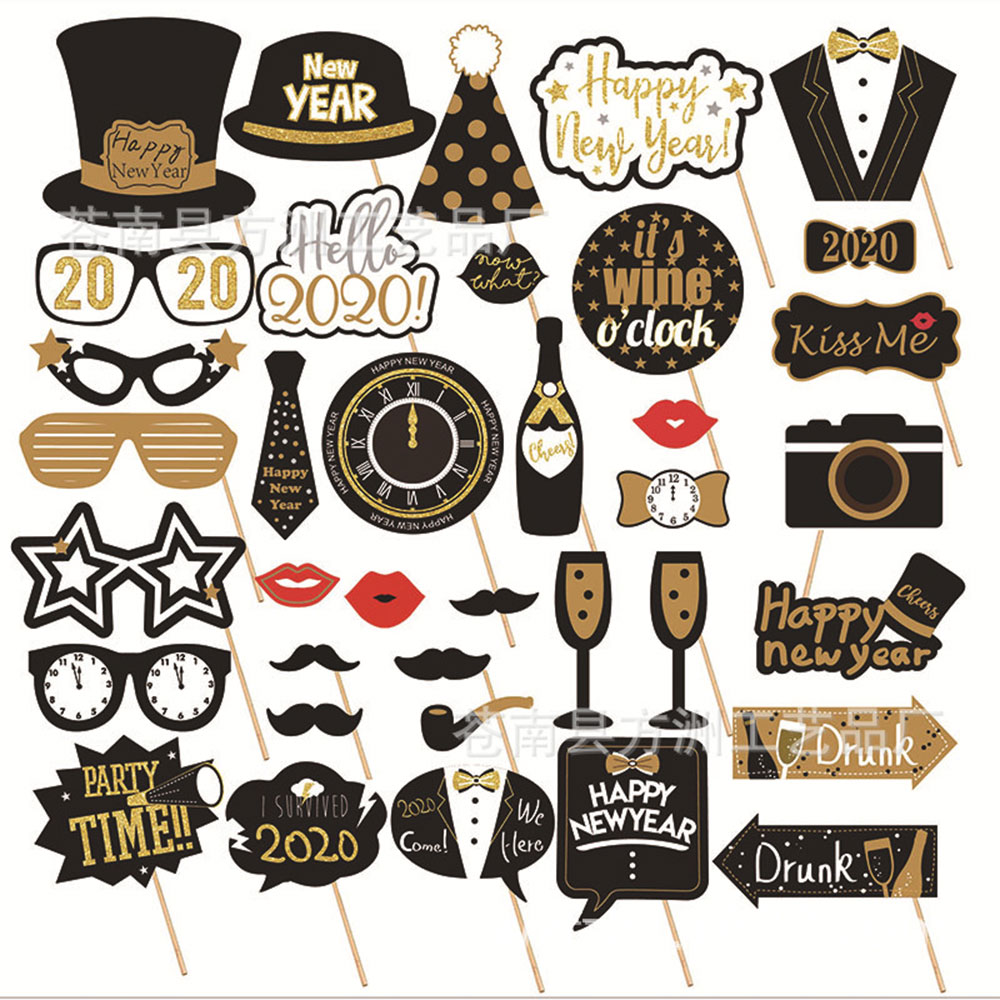 16/18/21st/30/40/50/<font><b>60th</b></font> Photobooth Happy <font><b>Birthday</b></font> Party Supplies Photo Booth Props Man Woman <font><b>Birthday</b></font> Party <font><b>Decorations</b></font> image