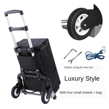 Hand-Truck with Wheels Portable Heavy-Duty Aluminum Collapsible Luggage-Cart for Industrial