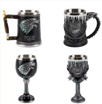 Game of thrones water glass bar creative 3D sculpture beer mug goblet cute mug  christmas mugs