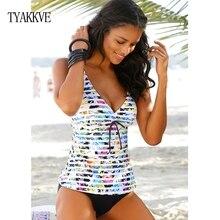 Pushup Bikini 2019 Plus Size Swimwear Women Tankini Set Two Piece Swimsuit Swimming Suit Big Size Push Up Bathing Suit Femme 3XL plus size two tone cami tankini set