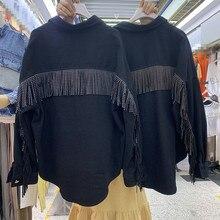 2019 new loose short fringed women's denim jacket female