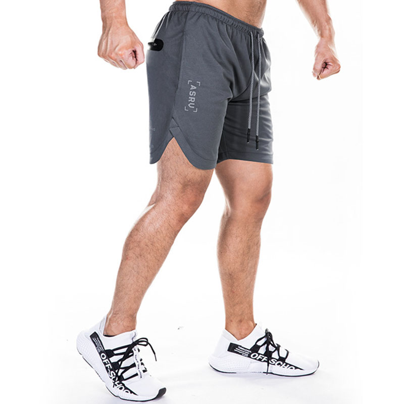 ASRV 2019 New Arrival Summer Fashion Brand Men Gyms Shorts Fitness Bodybuilding Short Pants Beach Shorts Elastic Waist Shorts
