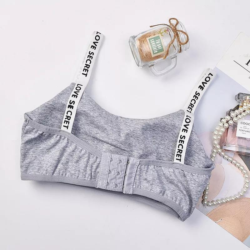 Girls Training Bra Wireless Thin Cup Bra Fashion Comfortable Teenage Underwear 8-15years 3