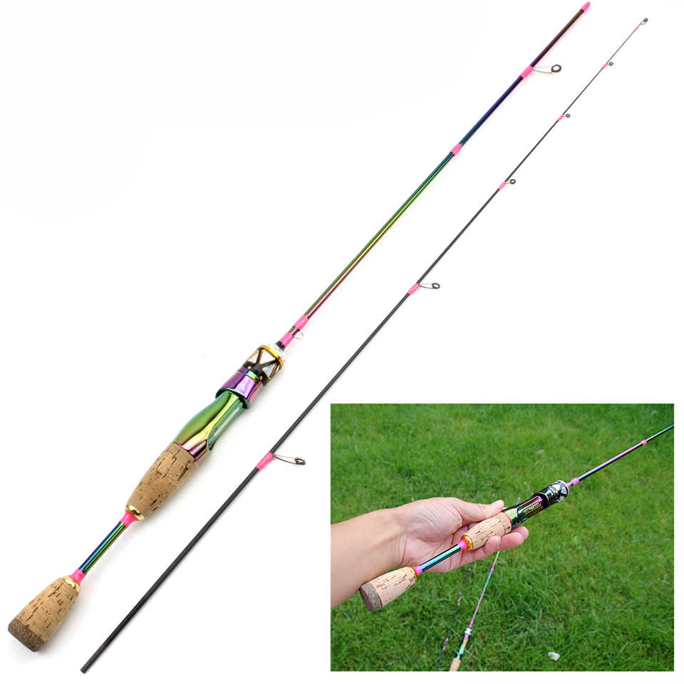 Ultra Light Spinning Fishing Rod Lure Pole Carbon UL Power Bait Casting 1.68M