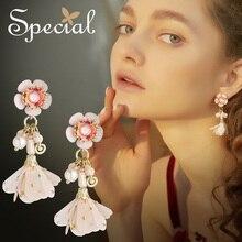 The SPECIAL FASHION JEWELRY sterling 925 silver needle earrings euramercian flower  for women S2279E