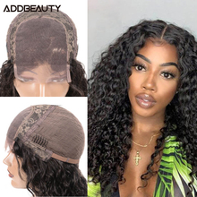 Kinky Curly 13x6 Lace Frontal Wig Brazilian Human Remy Hair Wig 4x4 Lace Closure Wig for Women Ali Queen Hair Wigs Natural Color
