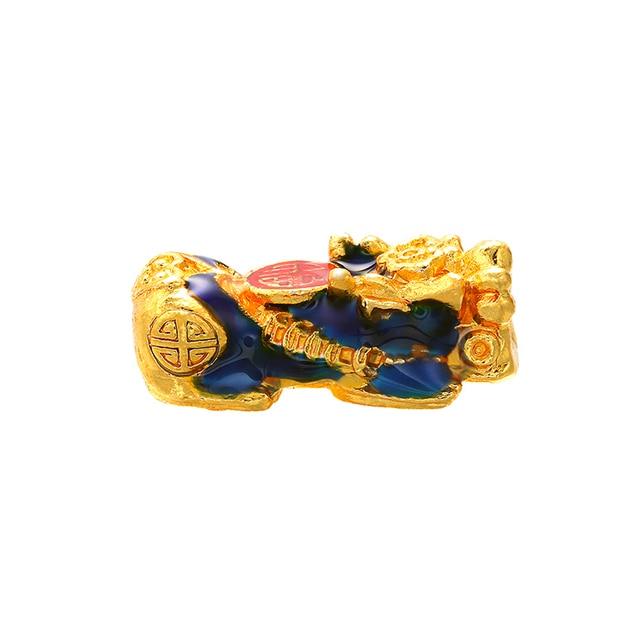 Larga retención esmalte chino Pixiu perlas de espaciador de brazalete de la suerte joyas de amuleto que hace accesorios collar hallazgos