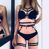 2021 Bdsm Kit Sexy Lingerie giarrettiera imbracatura in pelle giocattoli del sesso per le donne accessori del sesso giocattoli per adulti 18 giocattoli sessuali