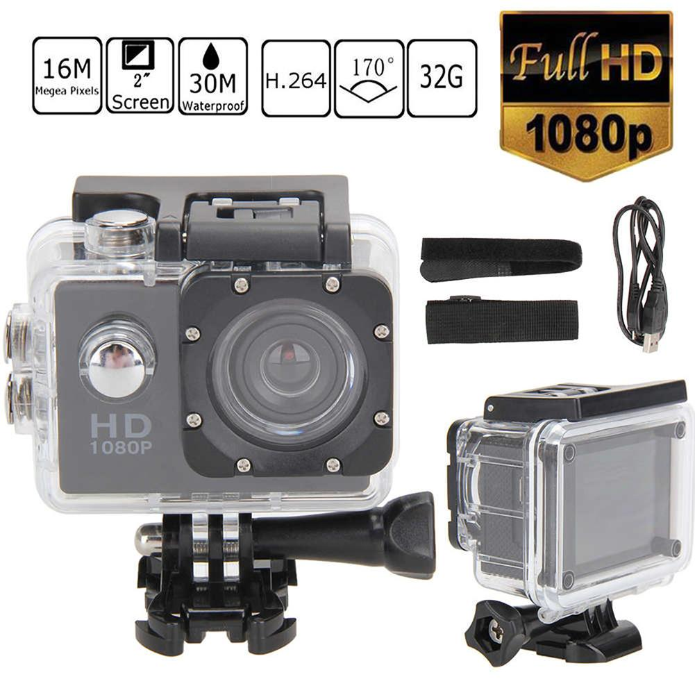 Full HD Action Camera 1080P 30m Waterproof Cam 2inch Camcorder Sports DV Go Car Cam Pro With Bicycle Bracket Set
