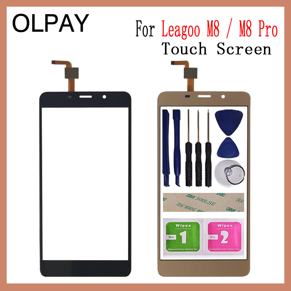 """5.7"""" Inch For Leagoo M8 Pro Touch Screen Digitizer For Leagoo M8 Touch Panel Touchscreen Sensor Front Glass Free Adhesive+Wipes"""