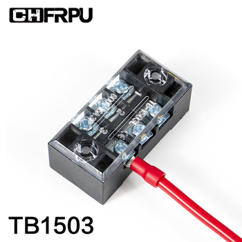 1PCS TB1503 Dual Row Barrier Screw Terminal Block Strip Wire Connector Fixed Wiring Board 600V 15A tb1504 1pcs dual row barrier screw terminal block strip wire connector fixed wiring board 600v 15a
