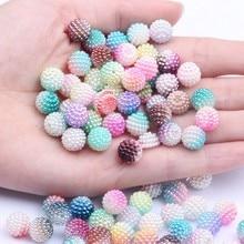10mm 20 sztuk/partia akrylowe wielobarwne koraliki bayberry sztuczna perła okrągły luźny koralik DIY naszyjnik i bransoletka biżuteria...