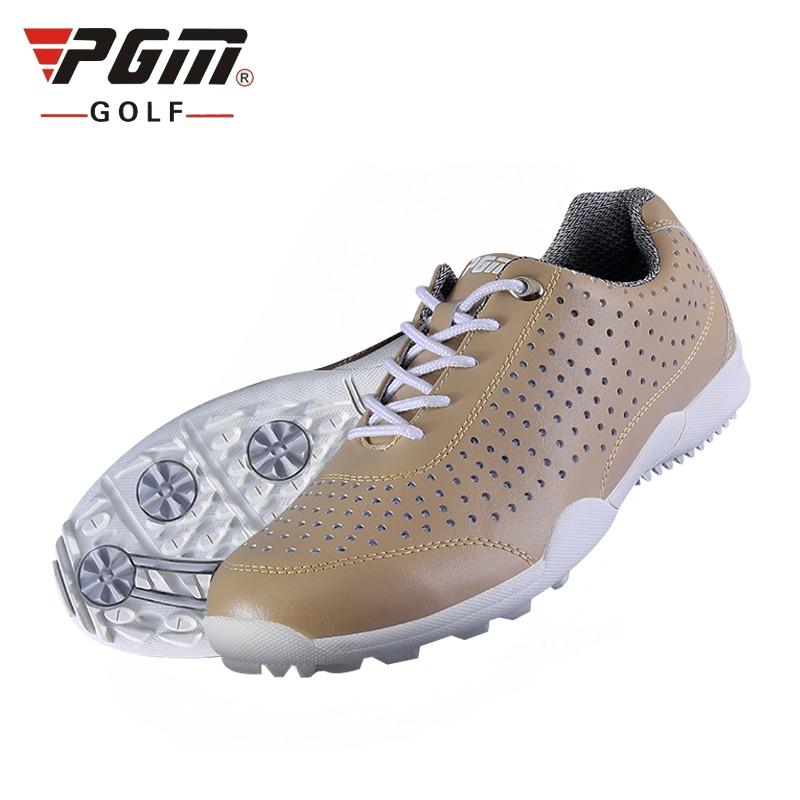 Golfe dos Homens Pgm dos Homens de Couro Macio Respirável Tênis Rendas Acima Sapatos Atléticos Confortáveis Tamanho Eu39-44 Aa10101
