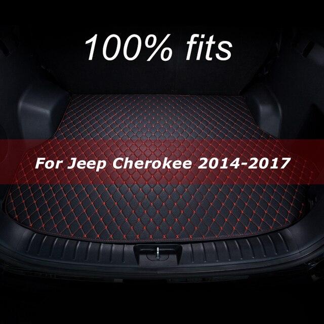 Kofferraum matte für Jeep Cherokee 2014 2015 2016 2017 cargo liner teppich innen zubehör abdeckung