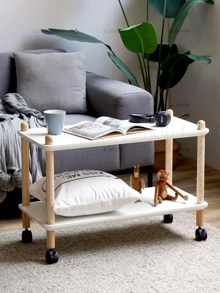 Movable Corner Table Sofa Bedside Small