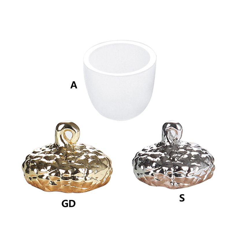 DIY силиконовый держатель для подвесных колпачков, инструменты для изготовления украшений из эпоксидной смолы, формы для ожерелий, 3D однотон...