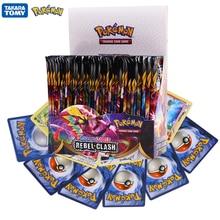 324Pcs/Box Pokemon Cards TCG:Sword&Shield Sun&Moon REBEL CLASH English Trading Card Game Booster Box Collectible Kid Toys Gift