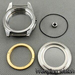 Image 5 - 41 ミリメートル Corgeut サファイアガラスセラミックベゼルステンレス鋼腕時計ケースフィット御代田 8205/8215/82 シリーズ、 eta 2836 、 Mingzhu DG2813