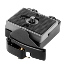 Black Camera 323 Quick Release Plate with Special Adapter (200PL-14) Compatible with Manfrotto 323 Tripod Monopod DSLR Cameras(N bexin323 camera plate tripod plate 200pl 14 clamp mount plate quick release adapter for manfrotto 200pl dslr camera compatible
