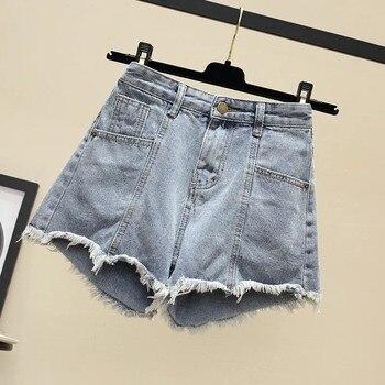 2021 New Hot Sale Summer Woman Denim Shorts High Waist Burrs Jeans Fashion Sexy Female Shorts Plus Size S-5xl Lu1822 2