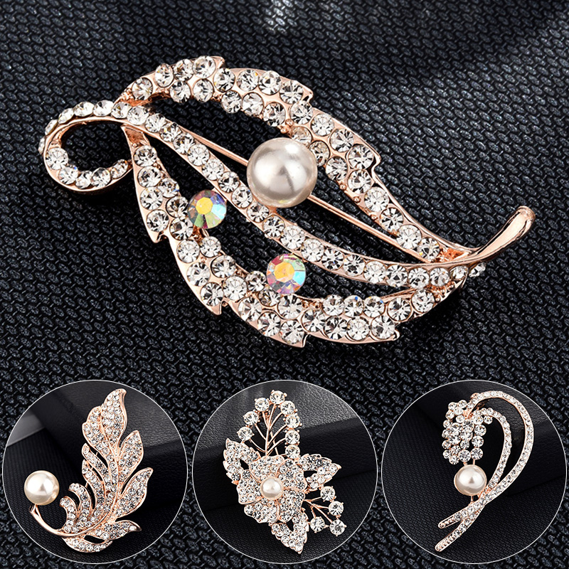 Metal Color : 6 Jiaye Brooch Women Flower Large Brooches Lady Corsage Brooch Girl Trendy Luxury Best Gift Pins Jewelry Accessorises
