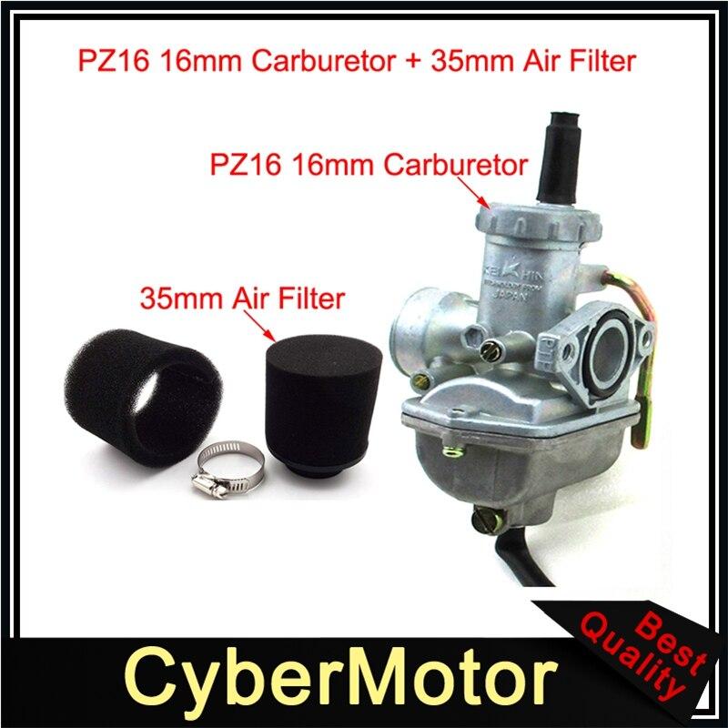 35MM AIR FILTER FOR HONDA XR50 CRF50 TTR Taotao 50cc 110 125cc Dirt Bike su
