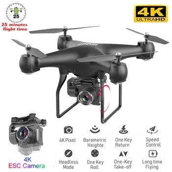 Dron RC con cámara WIFI 4K Profesional gran angular fotografía aérea Ultra-Larga vida cuatro ejes Control remoto Quadcopter juguete