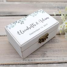 Wedding-Ring-Box Personalised Ring Bearer Custom Box.rustic