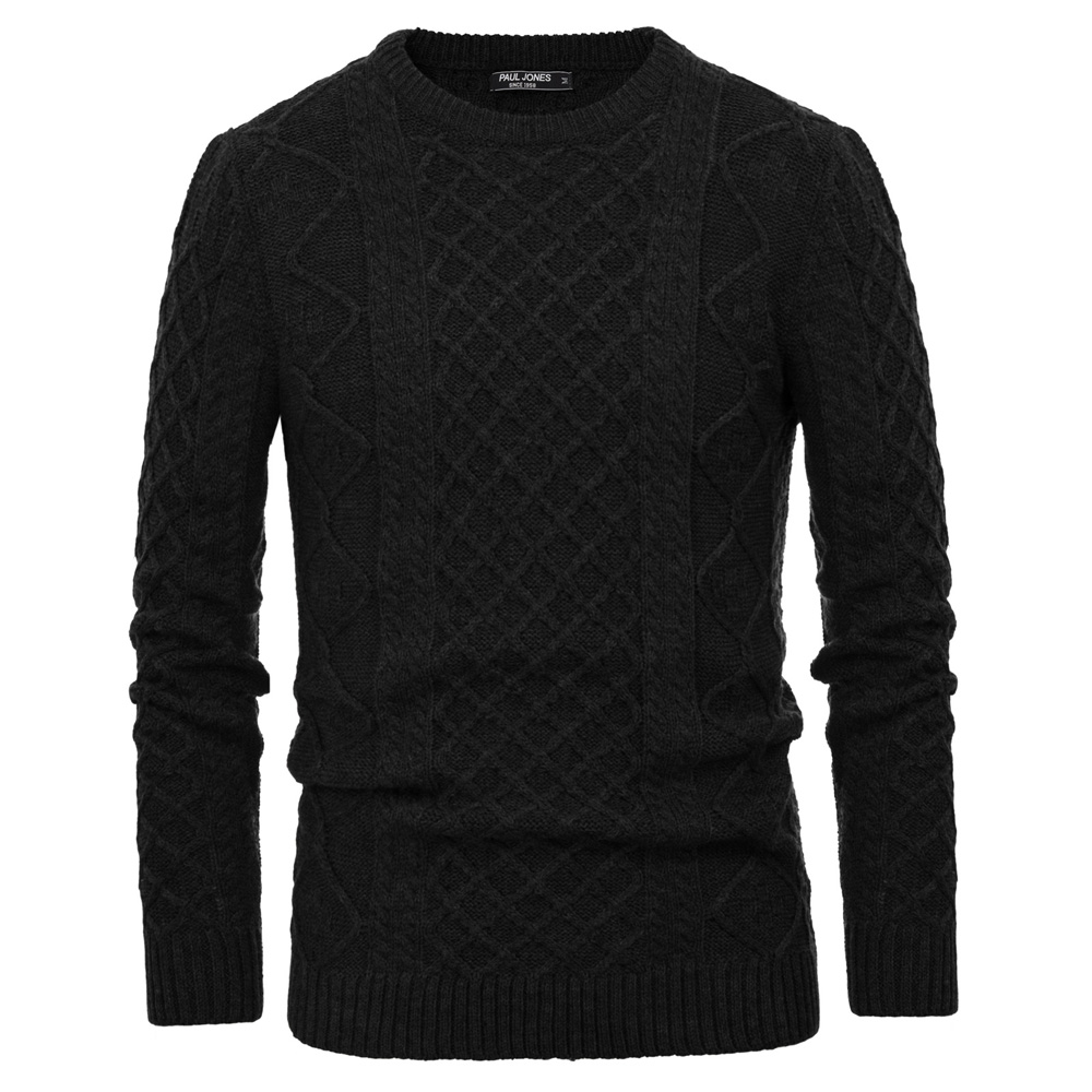 Warm Thick Sweater Men Stylish Solid Color Casual Basic Fall Winter Pullover Sweater Knitwear Long Sleeve Crew Neck Tops Male